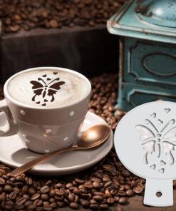 Butterfly Coffee Stencil