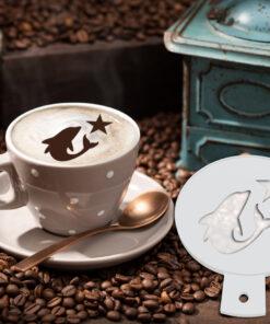 Dauphin Coffee Stencil