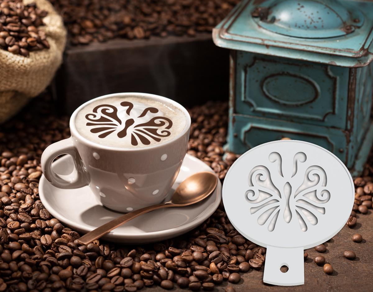 Pochoir à café - Papillon