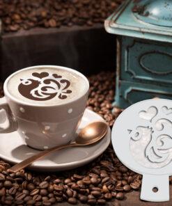 Bird Coffee Stencil