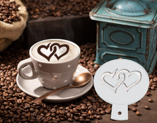 Heart Coffee Stencil