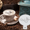 Arabic Love Coffee Stencil