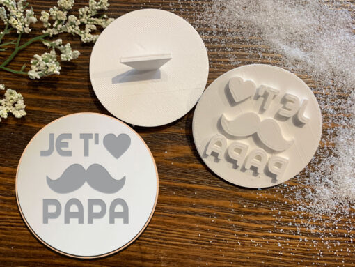 Je t'aime Papa – Cookie Stamp