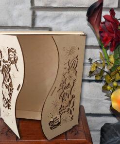 Boîte cadeau personnalisé en bois coupé au laser