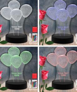 Lampe LED 3D Personnalisées en Acrylique  Laser Cut - Ballons