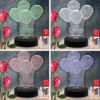Balloon Happy Birthday RGB Led Acrylic Light Lamp Color Laser Cut