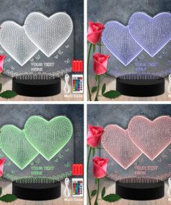 Lampe LED 3D Personnalisées en Acrylique - Papillon decouper au laser