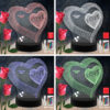 Love Heart RGB Led Acrylic Light Lamp Color Laser Cut