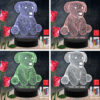 Dog Animal RGB Led Acrylic Light Lamp Color Laser Cut