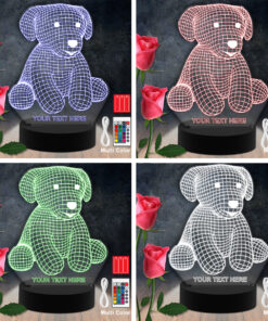 Dog Animal RGB Led Acrylic Light Lamp Color Laser Cut