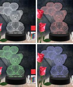 Bear Balloon RGB Led Acrylic Light Lamp Color Laser Cut