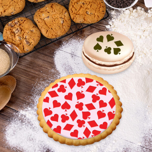 Stencil PETG Design Cookies Pastry Sweet Sugar Geometric form Dot Love food Kitchen