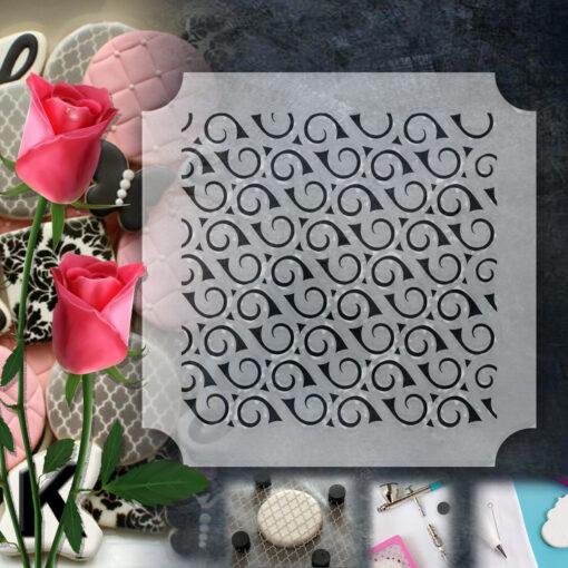 Stencil PETG Design Cookies Pastry Sweet Sugar Geometric form Dot Love food Kitchen