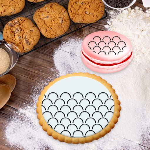 Stencil PETG Design Cookies Pastry Sweet Sugar Geometric form Dot Love