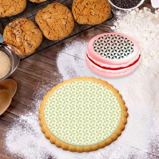 Pochoir PETG Design Cookies Pâtisserie Sucre Sucré Forme géométrique Line Amour Nouriture Cuisine FaceBook Google
