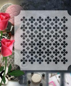 Stencil PETG Design Cookies Pastry Sweet Sugar Geometric form Dot Love