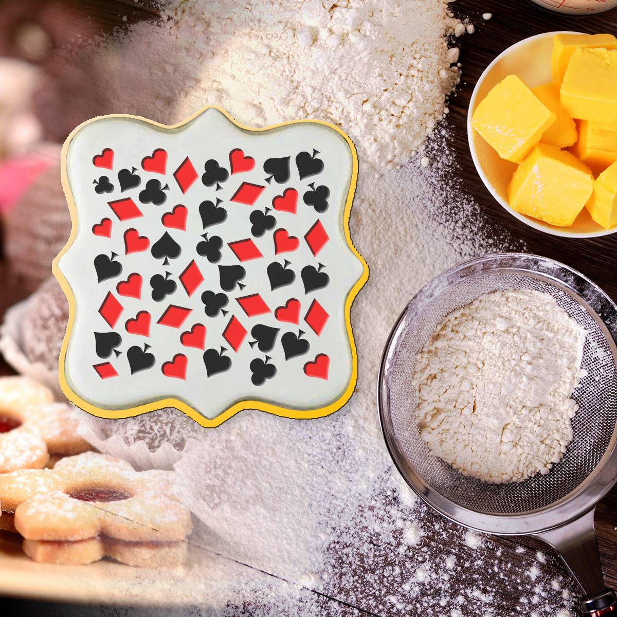 Cookies Pattern Stamp 3D Embosser Pastry Decoration