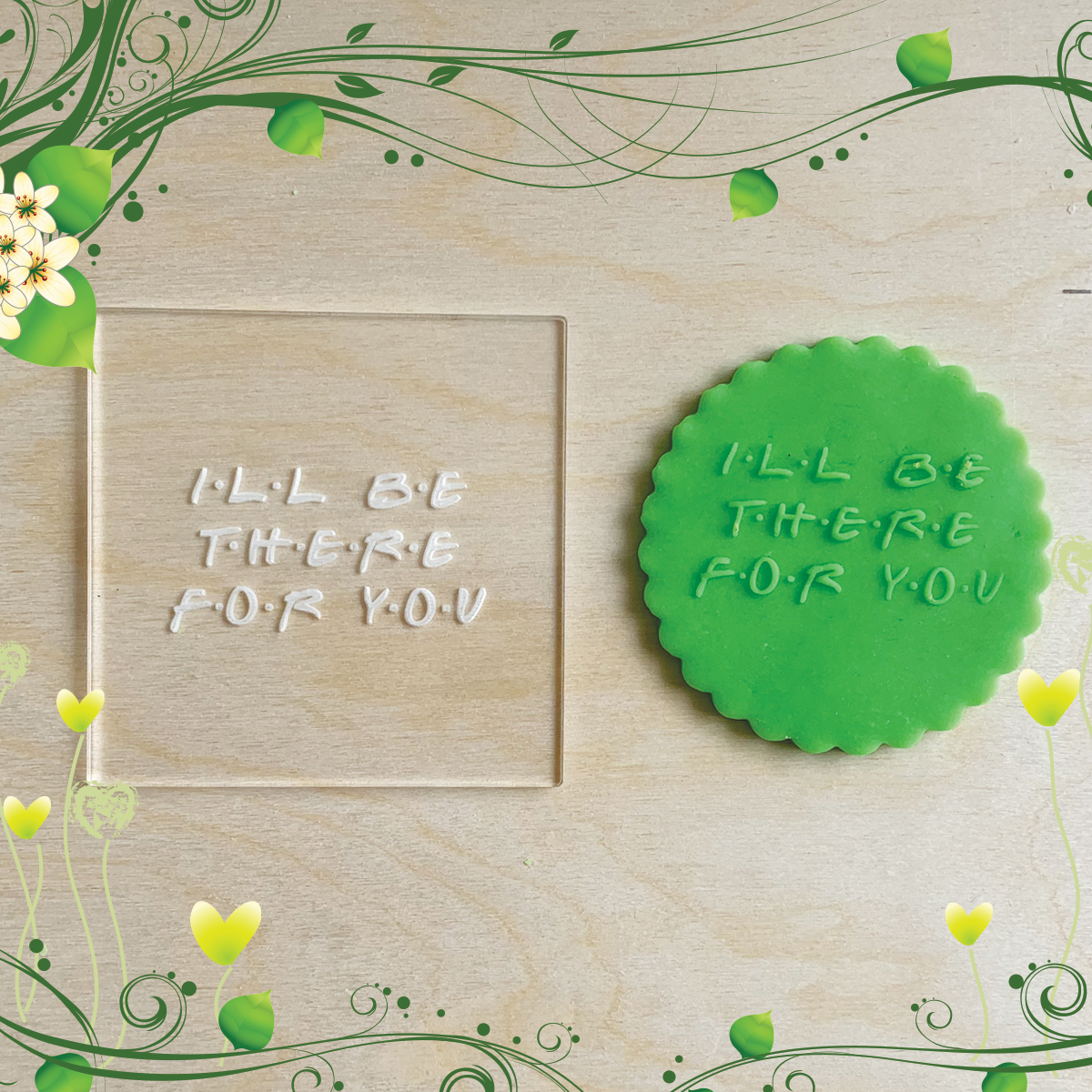 Acrylic Outbosser Embosser cookies stamps for sugar paste cupcakes Type