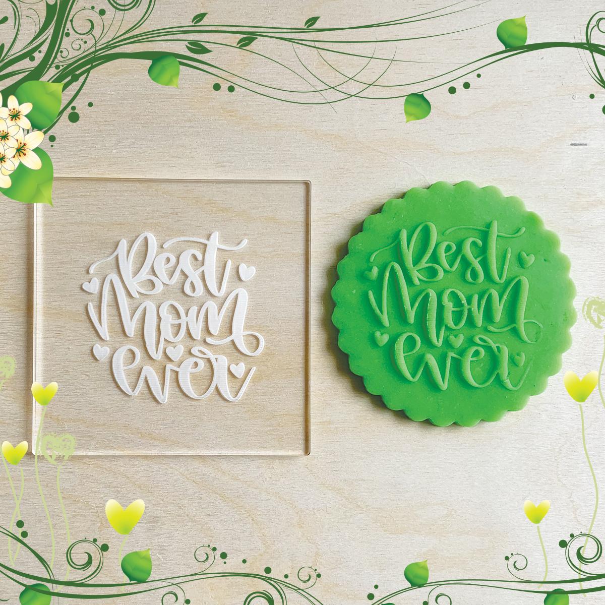 Tampons de biscuits en acrylique Embosseur pour cupcakes en pâte à sucre Fête des mères