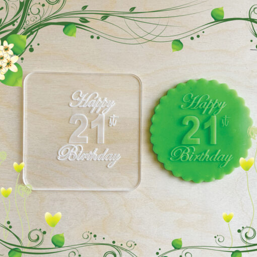 Acrylic Outbosser Embosser cookies stamps for sugar paste cupcakes Happy Birthday