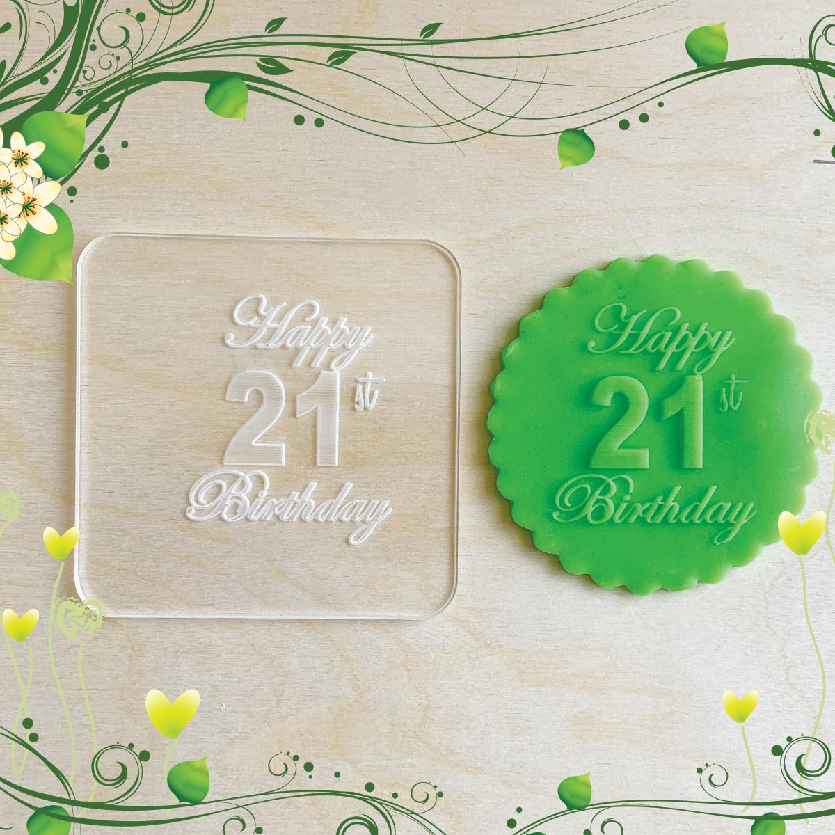 Tampons de biscuits en acrylique Embosseur pour cupcakes en pâte à sucre Anniversaire