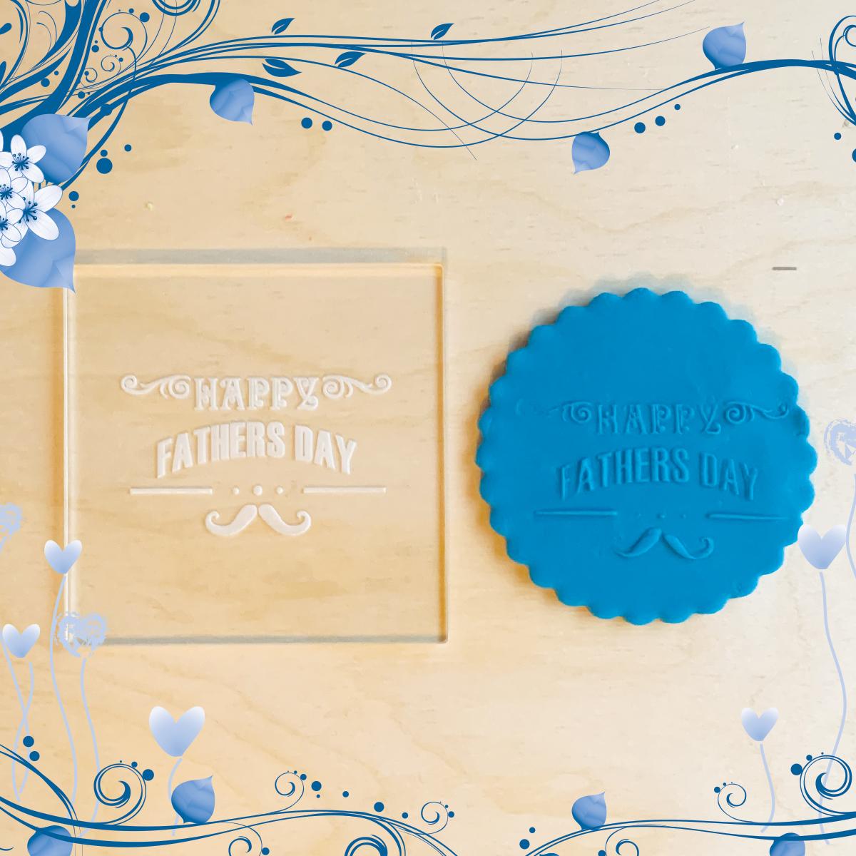Tampons de biscuits en acrylique Embosseur pour cupcakes en pâte à sucre Fêtes des pères