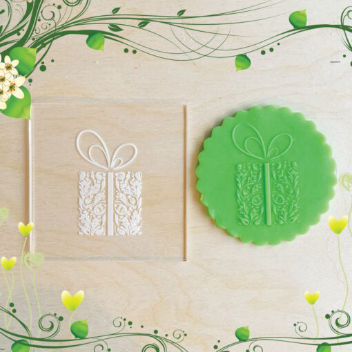 Acrylic Outbosser Embosser cookies stamps for sugar paste cupcakes Gift Christmas