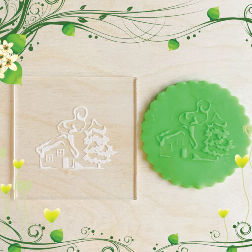 Acrylic Outbosser Embosser cookies stamps for sugar paste cupcakes Gift Tree Christmas