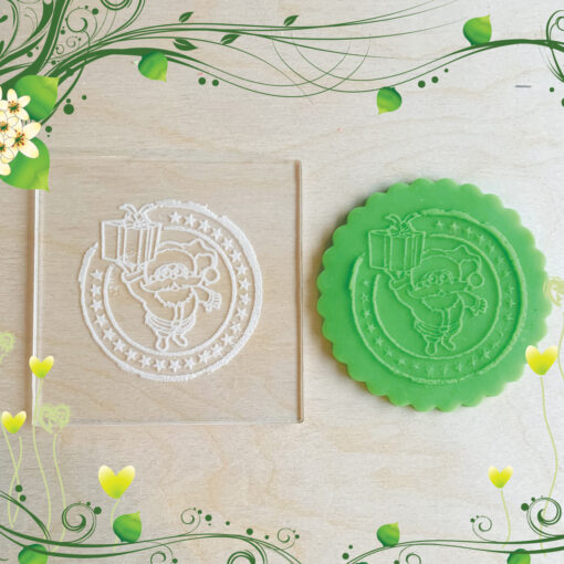 Acrylic Outbosser Embosser cookies stamps for sugar paste cupcakes Gift Santa Christmas