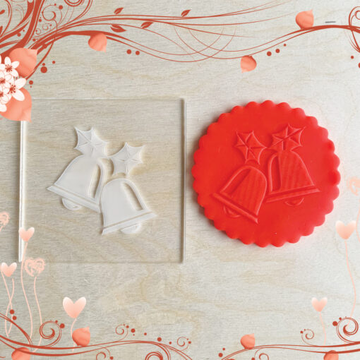 Acrylic Outbosser Embosser cookies stamps for sugar paste cupcakes Gift Bell Christmas