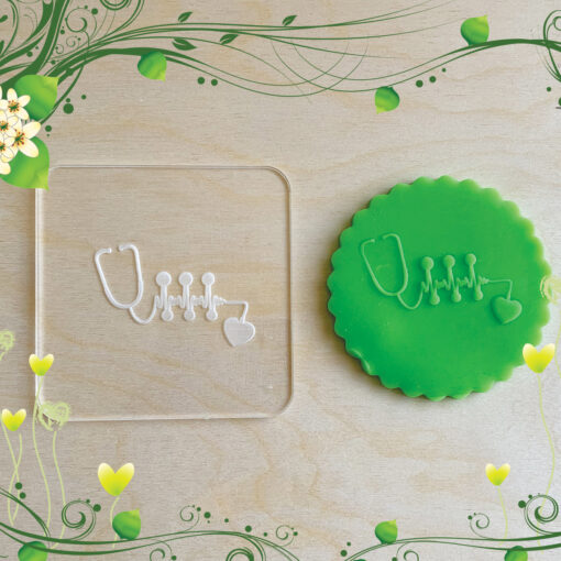 Acrylic Outbosser Embosser cookies stamps for sugar paste cupcakes Gift Healthy Medical